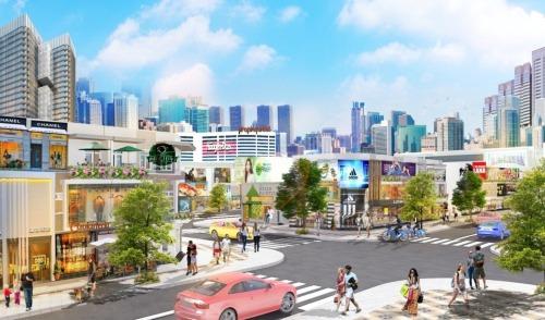 Phối cảnh một góc dự án Central Mall Long Thành.