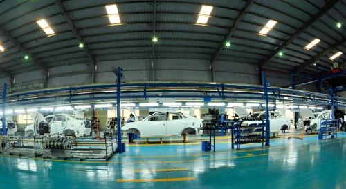 Bên trong một nhà máy ôtô tại Khu công nghiệp Gián Khẩu (Ninh Bình). Ảnh: UBND NInh Bình