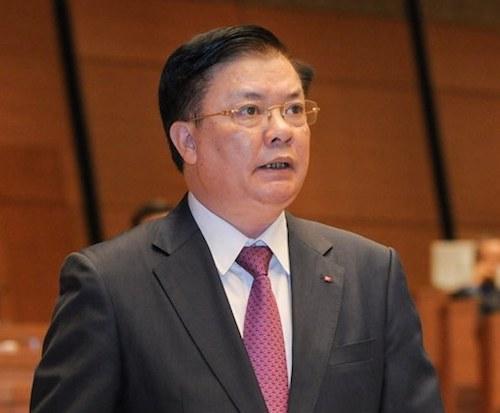 Bộ trưởng Bộ Tài chính Đinh Tiến Dũng. Ảnh: Cổng thông tin Quốc hội