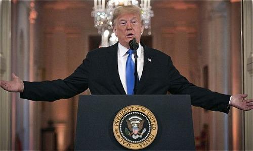 Tổng thống Mỹ - Donald Trump tại Nhà Trắng. Ảnh: AFP
