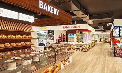 Không gian foodcourt của Đà Lạt Travel Mall rộng 2.000m2, lớn nhất Đà Lạt.