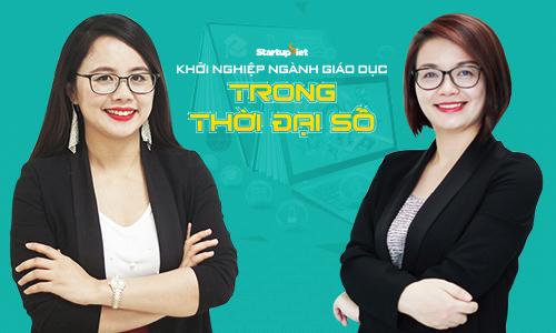 Bà Nguyễn Thị Hoa (trái) và Nguyễn Thị Giang - đồng sáng lập IMAP Việt Nam sẽ chia sẻ kinh nghiệm startup trong lĩnh vực giáo dục.