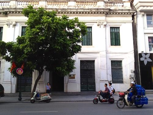 Mảnh đất toạ lạc trên đường Tràng Tiền thuộc sở hữu của Agrexport Hà Nội.