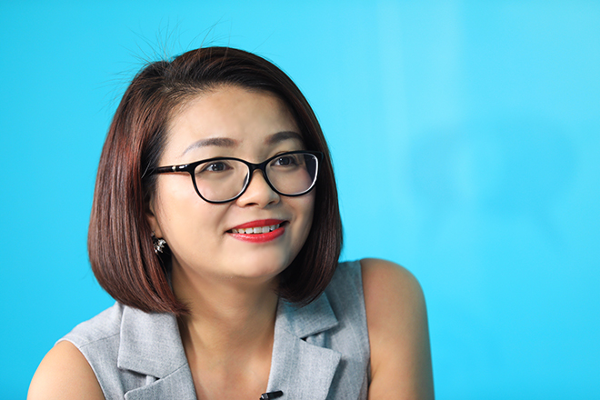 bà Nguyễn Thị Giang - Tổng giám đốc Công ty CP Giáo dục và Đào tạo IMAP Việt Nam.