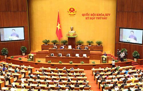 Kỳ họp thứ 6, Quốc hội khoá 14 thông qua Hiệp định CPTPP. Ảnh: Hoàng Phong