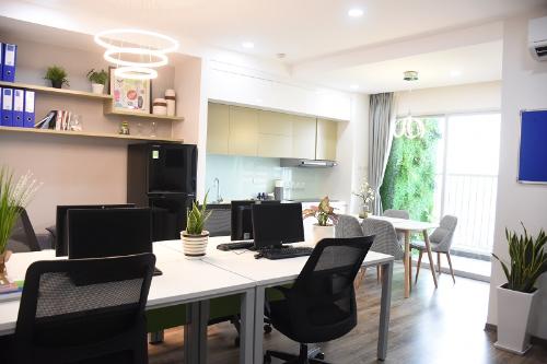 Thuê căn hộ để ở và làm văn phòng với 10 triệu đồng mỗi tháng