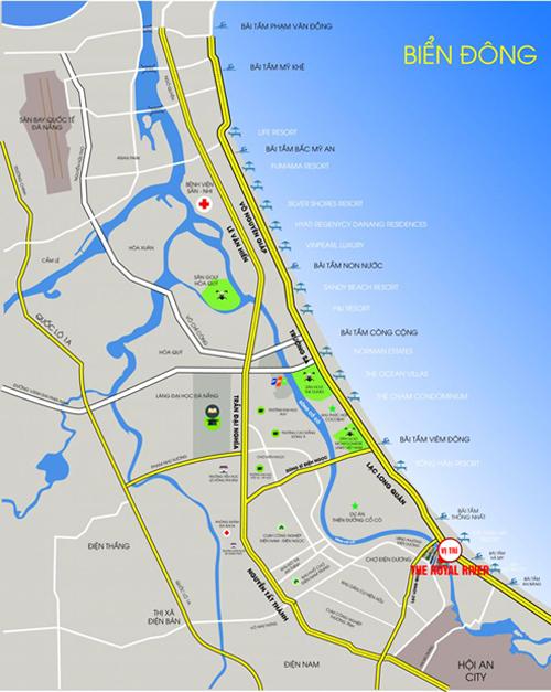Nhiều công trình lớn phục vụ cho du lịch, dịch vụ tập trung tại khu vực Nam Đà Nẵng - Bắc Hội An.
