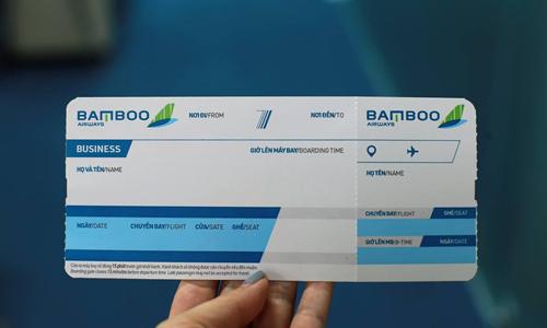 Mẫu vé dự kiến của Bamboo Airways.