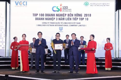 Unilever vào top 10 doanh nghiệp bền vững nhất Việt Nam 3 năm liền
