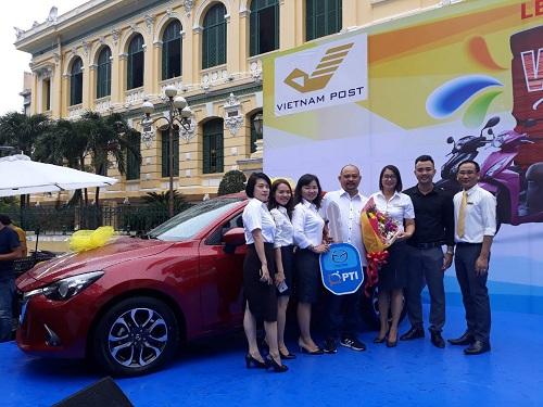 Bảo hiểm Bưu điện TP HCM thưởng ôtô cho nhân viên dịp 20 năm thành lập