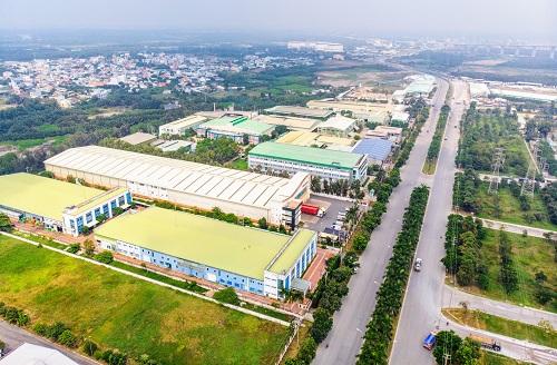 Toàn cảnh khu công nghiệp Hiệp Phước tại huyện Nhà Bè, TP HCM.