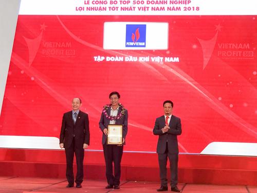 PVN dẫn đầu Top 500 doanh nghiệp có lợi nhuận tốt nhất
