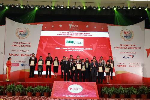 BIM Group lọt top doanh nghiệp lợi nhuận tốt nhất Việt Nam 2018