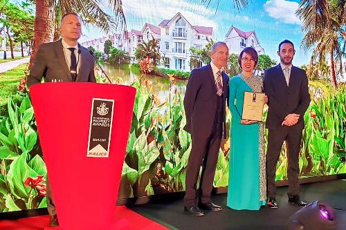 Vinhomes Riverside nhận giải thưởng 'Bất động sản tốt nhất thế giới'