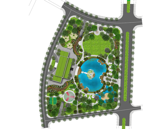 Không gian sống xanh tại dự án Eco Green Sài Gòn