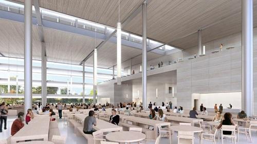 Tòa nhà hình tròn cao 4 tầng, tích hợp đầy đủ những tiện ích phục vụ cho công việc và sinh hoạt của nhân viên như khu văn phòng, tiếp khách, hội họp, giải trí, trung tâm thể dục thể thao...