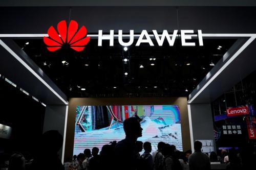 Gian hàng của Huawei tại triển lãm công nghệ CES hồi tháng 6 ở Trung Quốc. Ảnh: Reuters