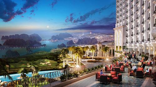 Từ FLC Grand Hotel Halong, du khách có thể ngắm nhìn toàn cảnh Hạ Long.