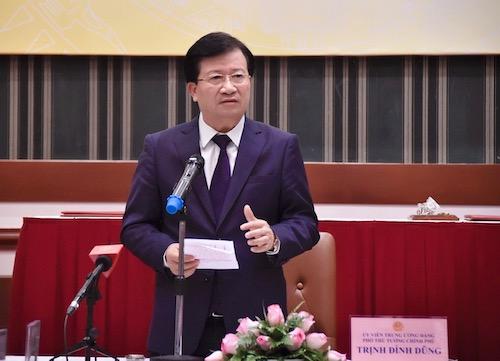 Phó thủ tướng Trịnh Đình Dũng phát biểu tại cuộc họp cung ứng than cho điện chiều 12/12. Ảnh: VGP