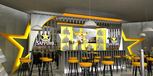 Landmark 81 đã hot càng thêm ấn tượng hơn với sự xuất hiện của Sapporo Premium Bar.