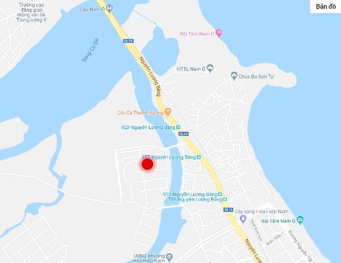 Gami EcoCharm nằm đối diện bãi biển Nam Ô.