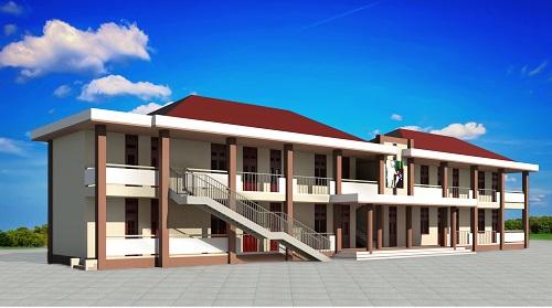 Phối cảnh trường tiểu học Lê Thị Hồng Gấm mới.