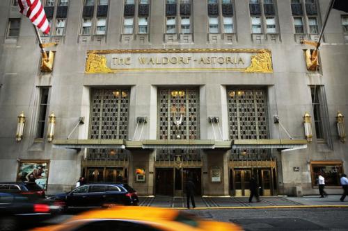 khách sạn Waldorf Astoria nổi tiếng của New York. Ảnh: AFP
