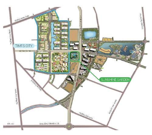 Sunshine Garden hưởng lợi từ trục đường 1.000 tỷ phía Đông Nam Thủ đô