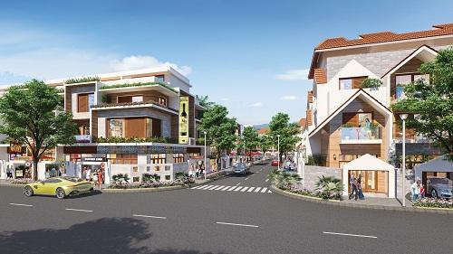 Phối cảnh nhà phố trong khu đô thị Barya Citi.