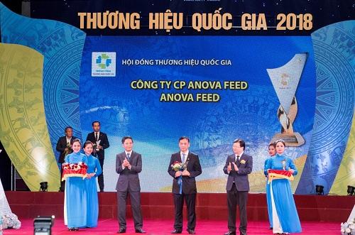 Anova Feed đạt chứng nhận Thương hiệu quốc gia năm 2018