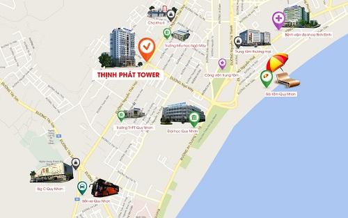 Dự án Thịnh Phát Tower tọa lạc tại 388 Nguyễn Thái Học, thành phố Quy Nhơn.