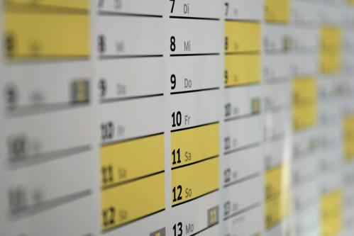Nên lên lịch làm việc cho tuần sau từ thứ Sáu tuần này. Ảnh: Pixabay