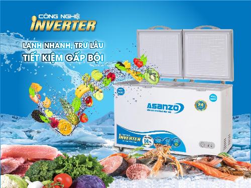 Tủ đông Inverter Asanzo có thiết kế tinh gọn, trang nhã và khả năng chống chịu thời tiết tốt.