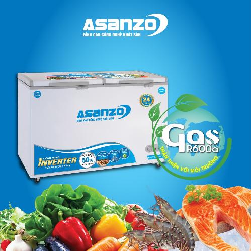 Tủ đông Asanzo giúp làm lạnh nhanh, thân thiện với môi trường.