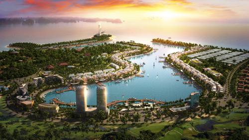 Toàn cảnh Tuần Châu Marina từ trên cao.
