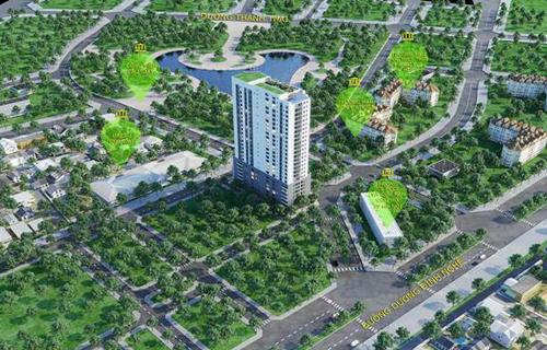 Dự án sở hữu vị trítrung tâm quận Cầu Giấy.