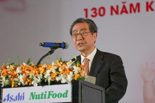 Ông Shoyama Katsuo - Chủ tịch Asahi Group Foods kỳ vọng lớn vào thành công của liên doanh Asahi-NutiFood.