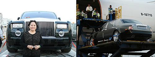Bà Diệp ra sân bay đón xế hộp năm 2008. Ảnh: Hoàng Lộc