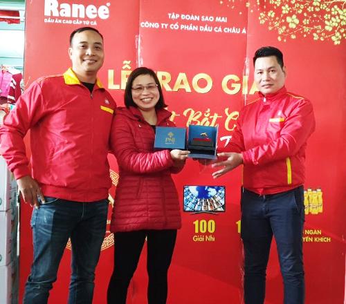 Chị Hoàng Thị Phương đã nhận được cá vàng Ranee một lượng vàng 9999.