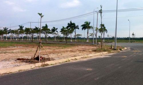 Một dự án đất nền tại huyện vùng ven TP HCM. Ảnh: P.V