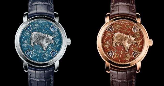 Vacheron Constantin đã bắt đầu ra mắt đồng hồ cho năm âm lịch từ 2013. Lần này, các sản phẩm chào năm Kỷ Hợi của họ có giá 110.000-134.000 USD.
