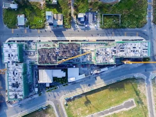 Đến tháng 2, dự án đã xây lên được tầng 6 ở tất cả các tòa tháp.