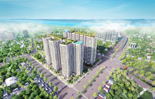 Dự án Imperia Sky Garden tọa lạc trên mặt đường lớn Minh Khai.