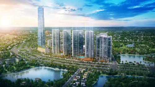 Eco Green Saigon tọa lạc ngay mặt tiền đại lộ Nguyễn Văn Linh, trung tâm Quận 7.