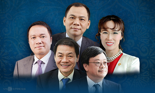 5 tỷ phú Việt Nam trong danh sách thế giới của Forbes 2019. Ảnh: Tạ Lư.