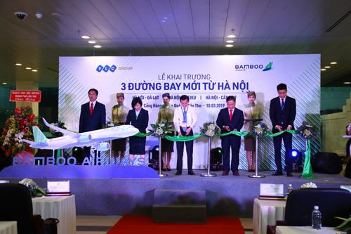 Lễ khai trương các đường bay nội địa mới của Bamboo Airways vừa diễn ra tại Cần Thơ.