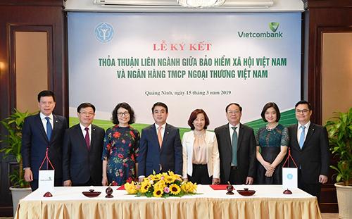 Vietcombank ký kết thỏa thuận liên ngành với Bảo hiểm xã hội Việt Nam - ảnh 3