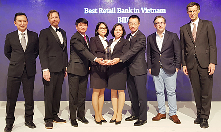 BIDV nhận giải thưởng 'Ngân hàng bán lẻ tốt nhất Việt Nam'