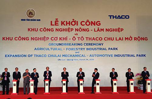 Thaco khởi công khu công nghiệp nông - lâm nghiệp ở Quảng Nam. Ảnh: Đắc Thành.