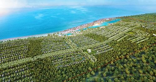 Phối cảnh một dự án mới tọa lạc ven biển Bà Rịa - Vũng Tàu có vườn thú safari của doanh nghiệp Sài Gòn.